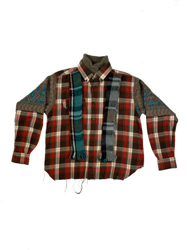 Flannel;Sweater Combo - Size Small