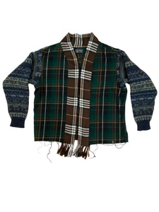 Flannel;Sweater Combo - Size Large