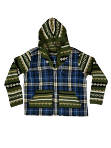 Flannel;Sweater Combo - Size Medium