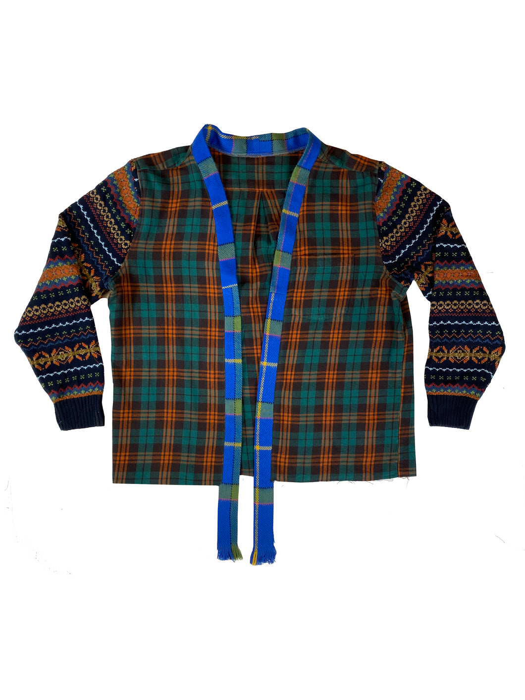 Flannel;Sweater Combo - Size XLarge