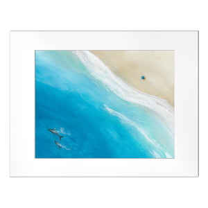 """Big Beach"" Matted Print"