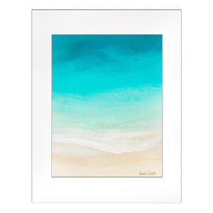 """Soothing Sea"" Matted Print"