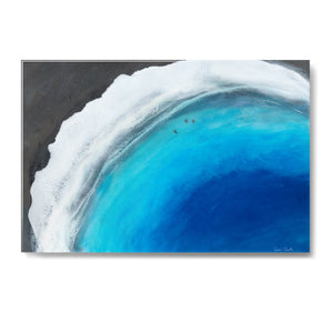 """Punalu'u Beach"" 24"" x 36"" Limited Edition Resin Print"