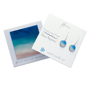 """Choose Happiness"" Earrings"