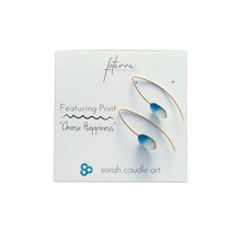 "Load image into Gallery viewer, ""Choose Happiness"" Earrings"