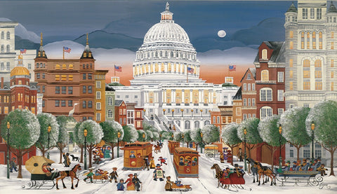 (C-96) Joyous Winter Evening on Pennsylvania Avenue - Monumental Products