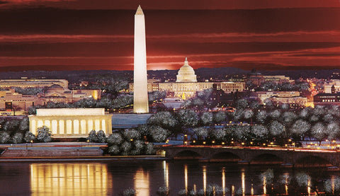 (R-10) Red Sky over Washington - Monumental Products
