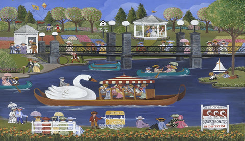 (Z-2) Swan Boats of Boston - Monumental Products