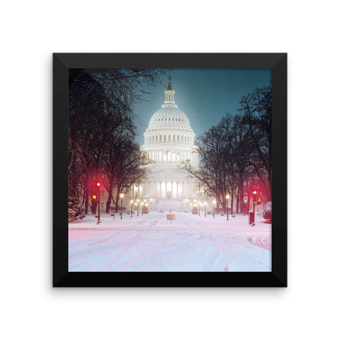 Midnight at the Capitol (R-1) Framed photo paper poster