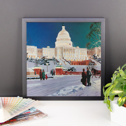 Capitol Onlookers (J-14) Framed photo paper poster