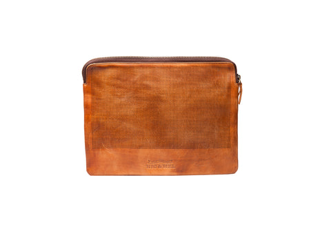 Adrian accessory/Ipadcase perforated Cognac