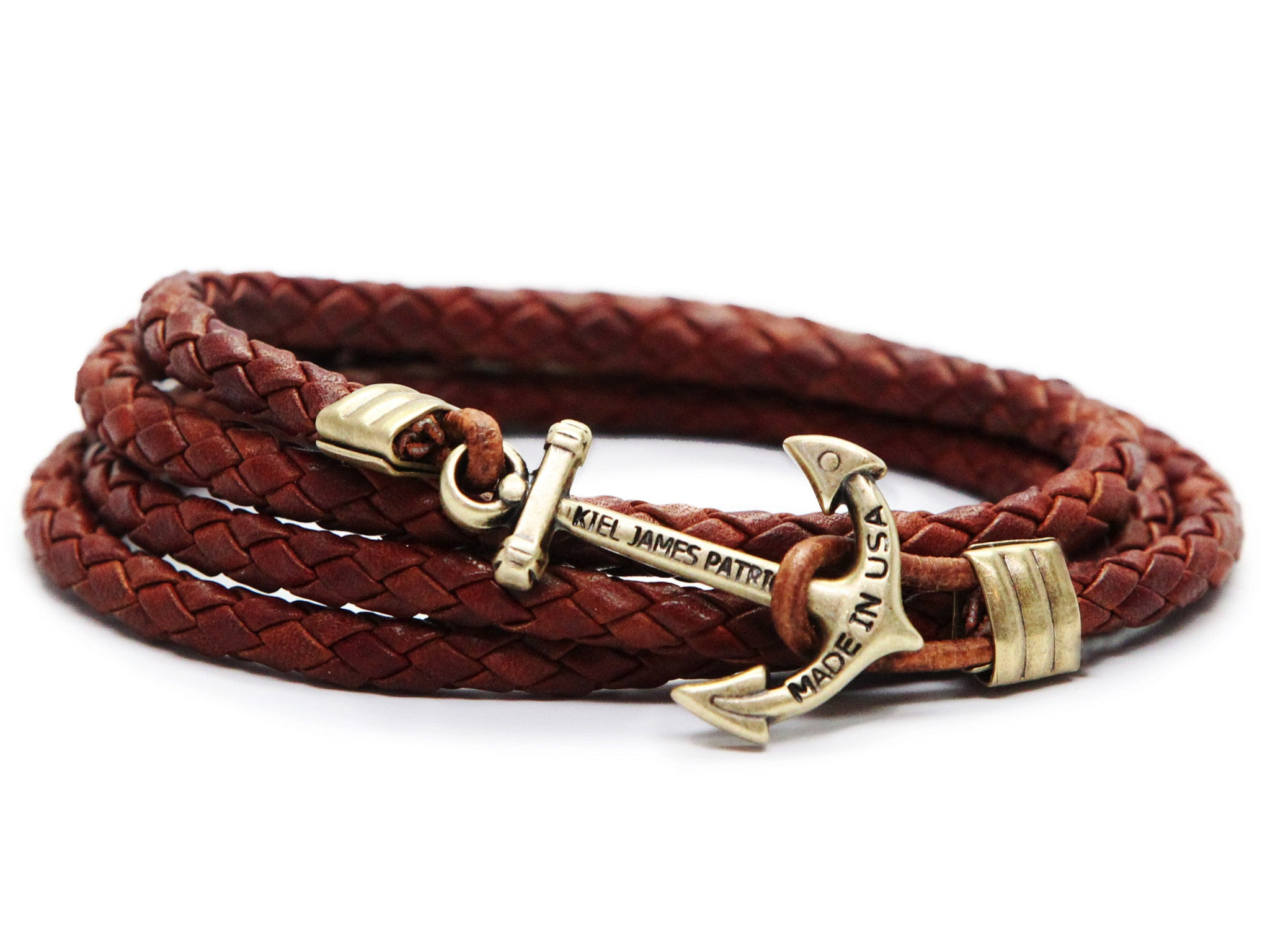 Doctor Jones Leather Anchor Bracelet