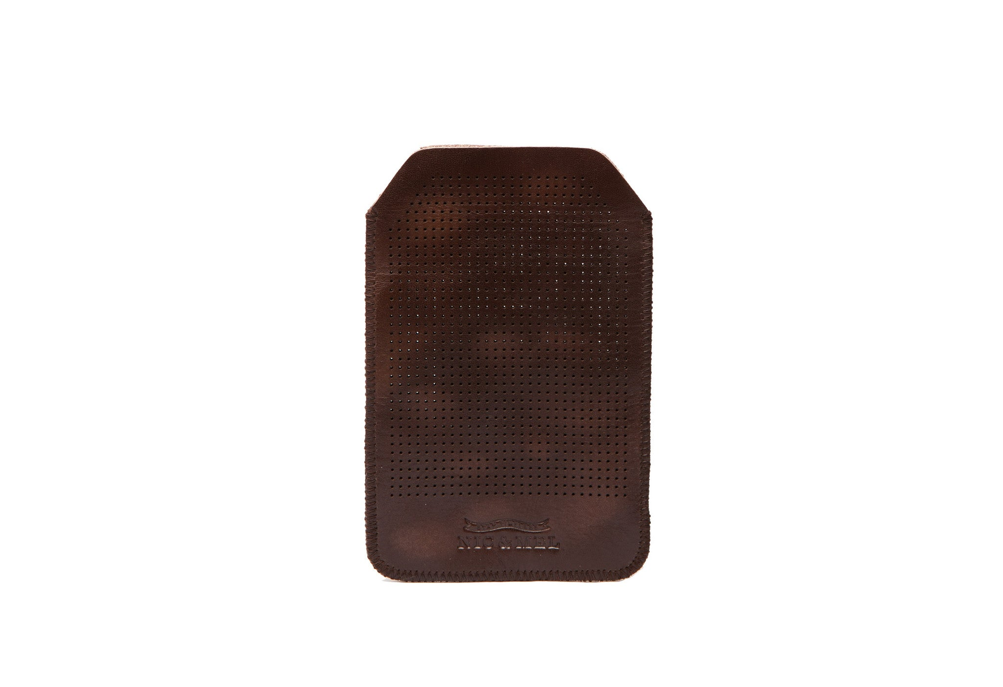 iPhone holder 4 perforated  Dk Brown