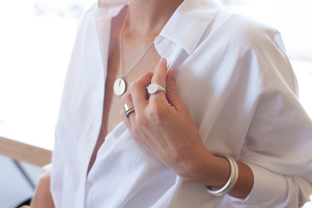 Jewelry classics with a modern twist. Silver, brass, & gold
