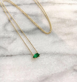 Emerald Marquis Necklace
