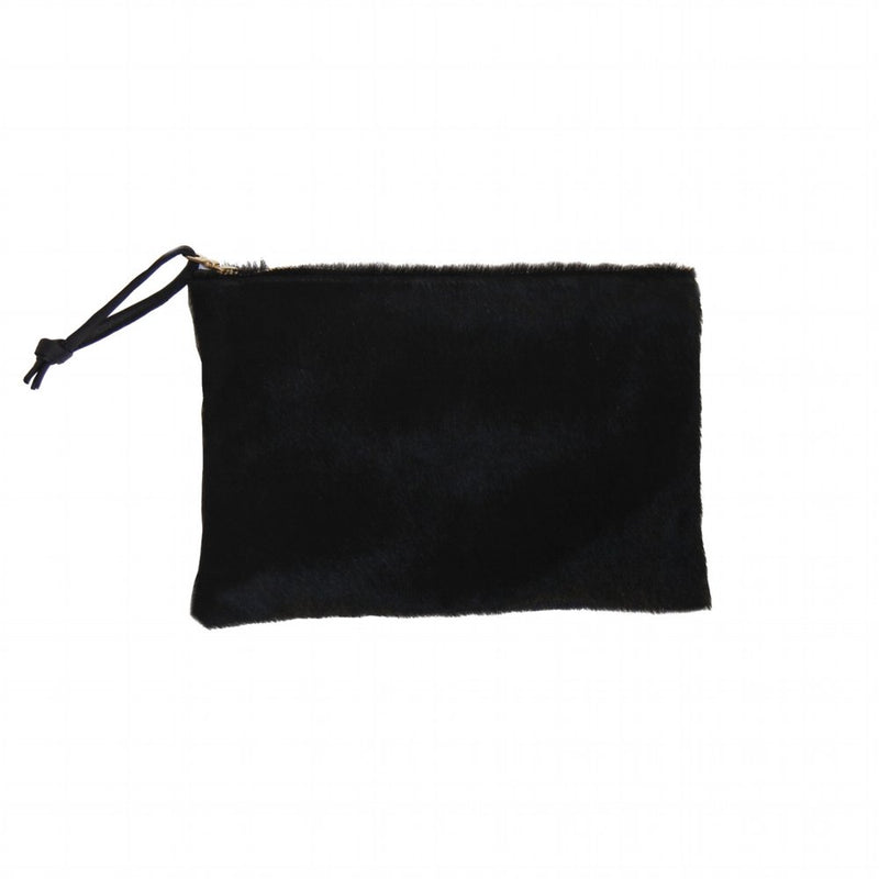 BLACK HAIR ON LARGE CLUTCH