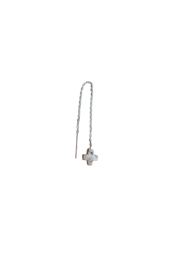 X THREADER EARRING
