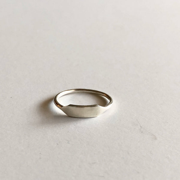 Small Rectangle Signet in Silver