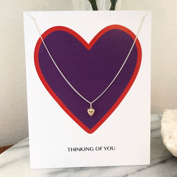 Heart Necklace w/ Card