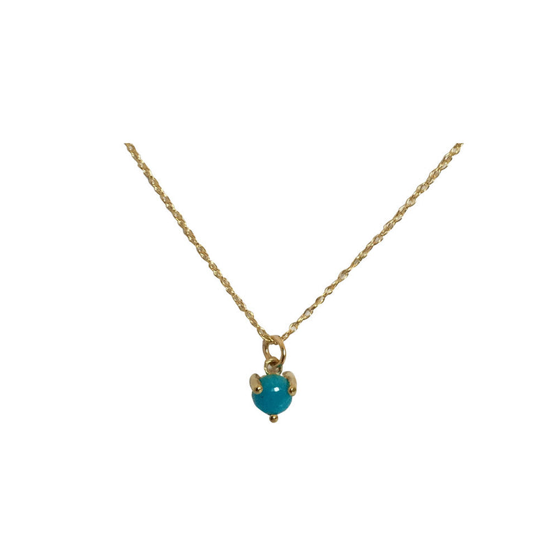 TURQUOISE PETITE 14K NECKLACE