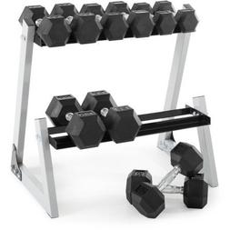200 Lb. Dumbbell Set with Rack - Athlete Everyday