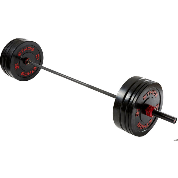 205 lb. Olympic Rubber Bumper Plate Set - Athlete Everyday