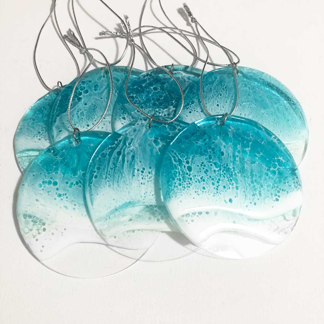 Ocean Wave Acrylic Ornaments - Art By Taura