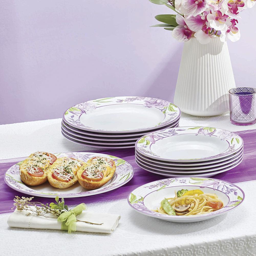Cattleya Melamine Large Serving Plater (6) - Tupperware Indonesia