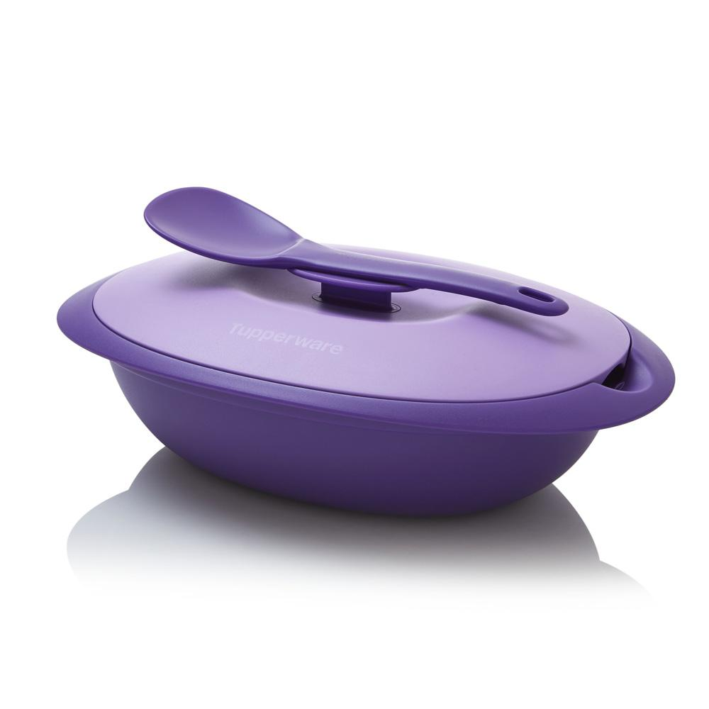 Pretty Lily & Large Serving Center - Tupperware Indonesia