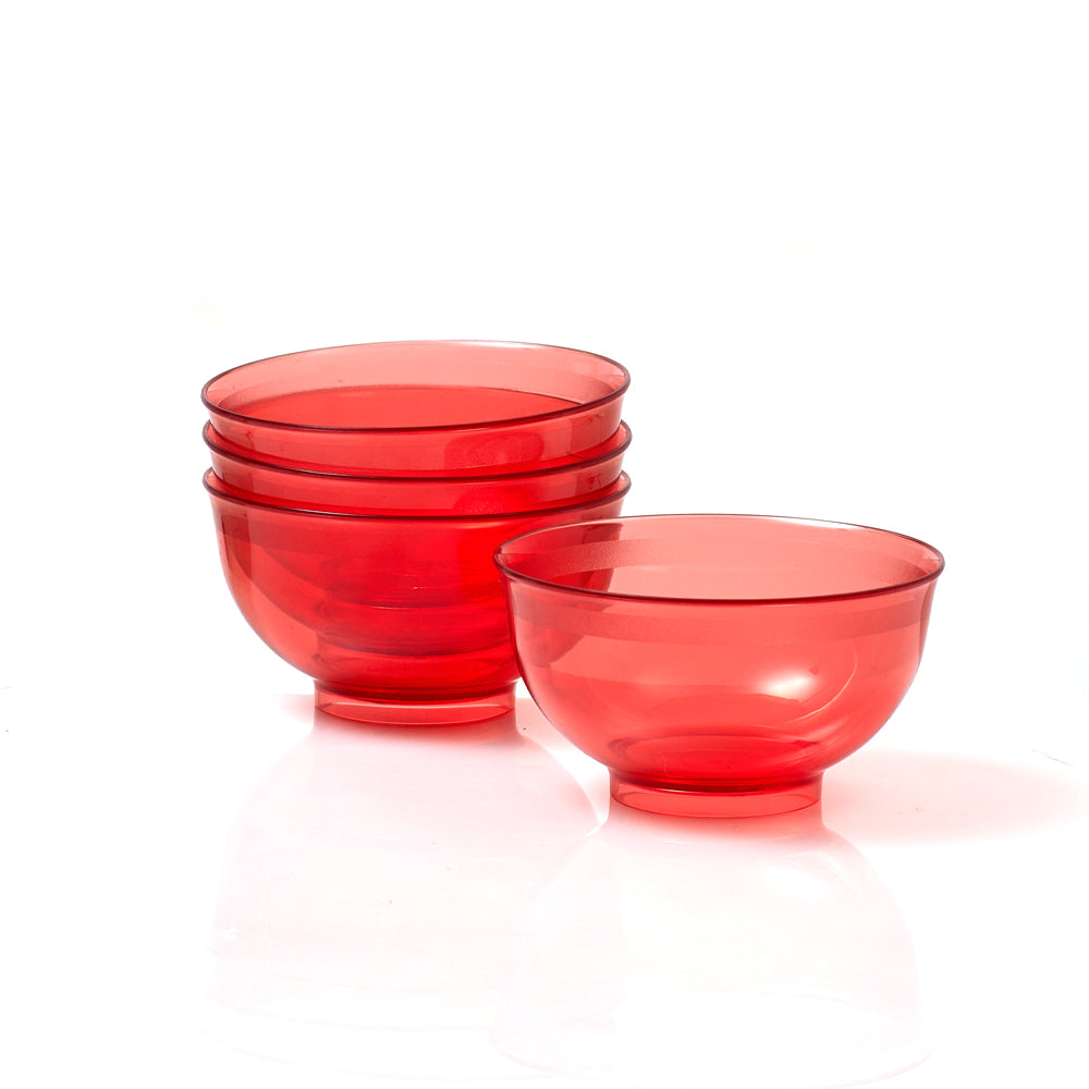 CRYSTAL BOWL (4) - RED