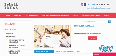Small Ideas Discount for City Quest