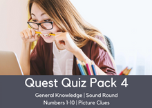Load image into Gallery viewer, Quest Quiz Pack 4 - At-Home Pub Trivia Quiz