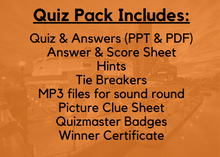 Load image into Gallery viewer, Quest Quiz Pack 6 - Pub Trivia Quiz