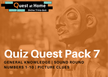 Load image into Gallery viewer, Quest Quiz Pack 7 - Pub Trivia Quiz