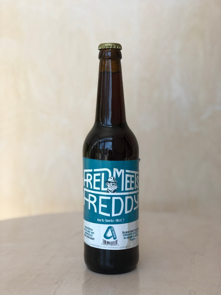 Brouwerij Alvinne x Hair of the Dog - Fred Meets Freddy (Oak Aged Blended Dark Sour) / 500mL