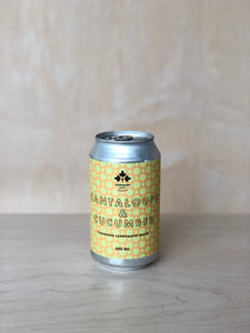 Dominion City - Cantaloupe & Cucumber (flavoured sparkling water) / 355mL