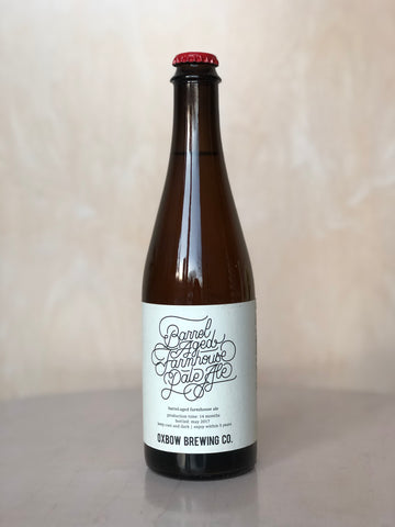 Oxbow - Barrel Aged Farmhouse Pale Ale (Barrel Aged American Saison) / 500mL