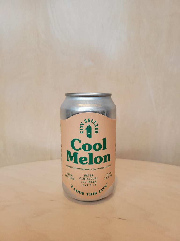 City Seltzer - Cool Melon (Flavoured Carbonated Water) / 355mL
