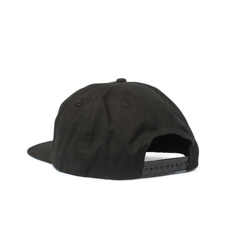Big Unstructured Snapback, Black - Oddjob® Hats