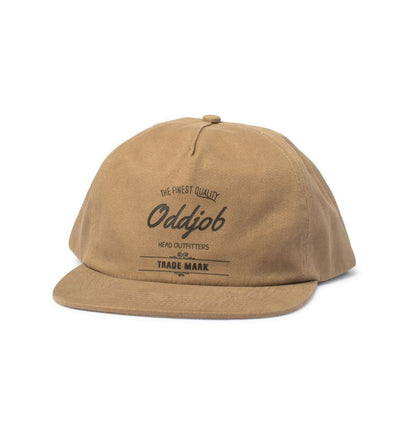 Big Unstructured Snapback, Pale Brown - Oddjob® Hats