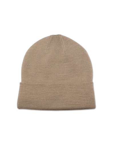 Big Wool Beanie, Beige - Oddjob® Hats