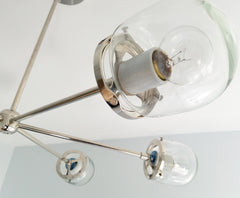 Carousel Chandelier with Glass