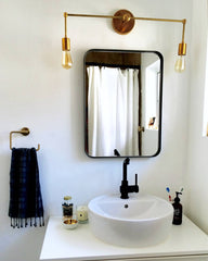 modern brass vanity fixture brass lighting bathroom