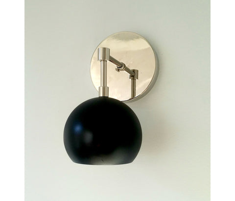 Loa Sconce with Matte Black Shade