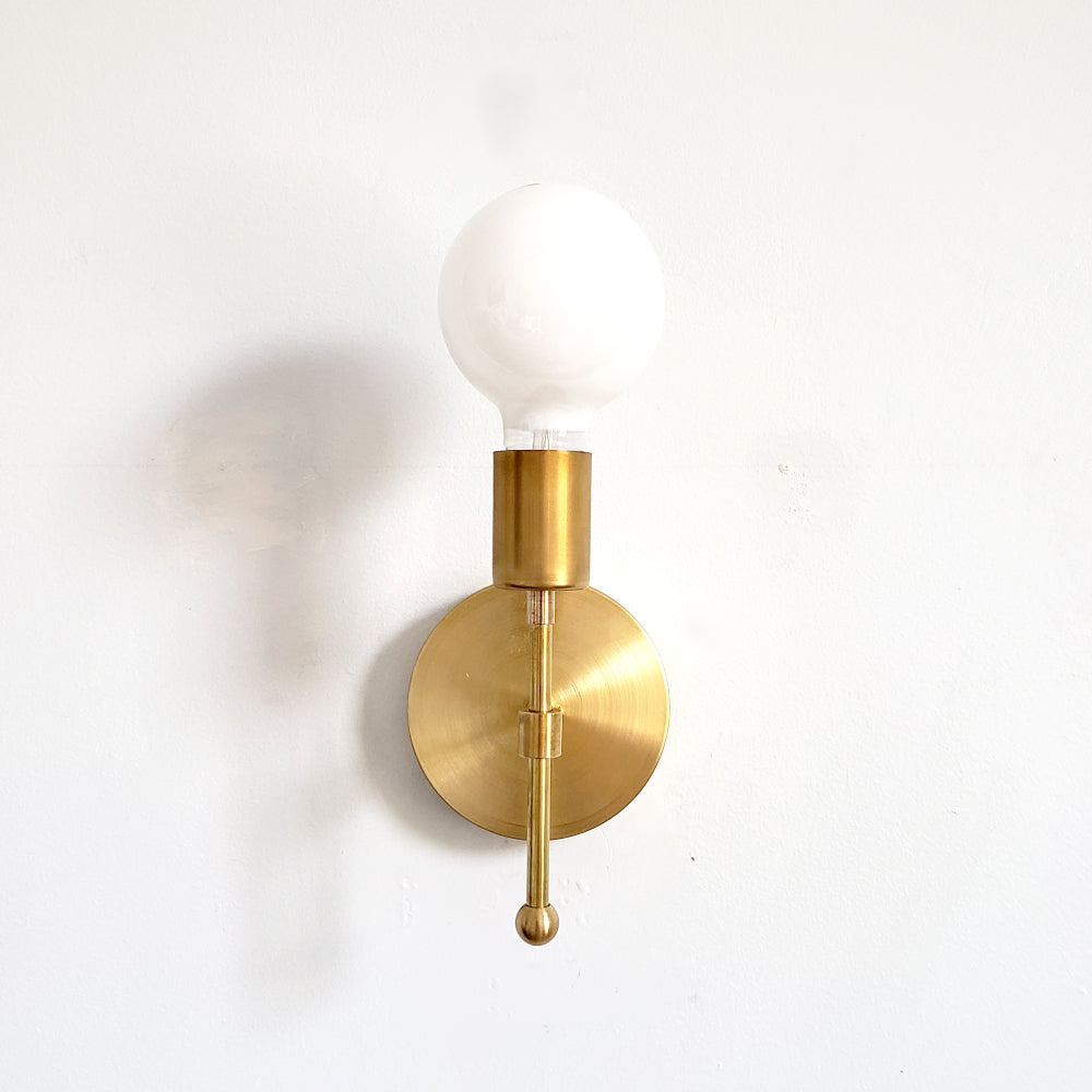 Brass wall sconce modern home decor lighting