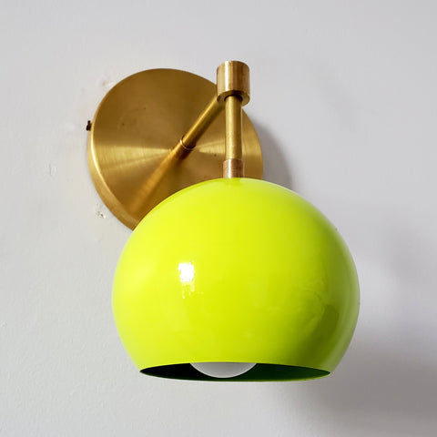 Loa Sconce with Chartreuse Shade