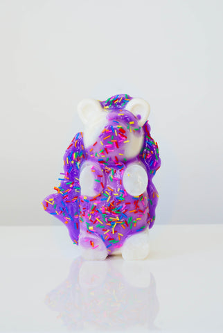 Cream Bear with Purple Icing