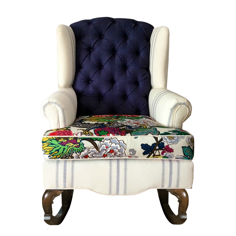 nursery rocking chair schumacher chiang mai dragon velvet striped linen