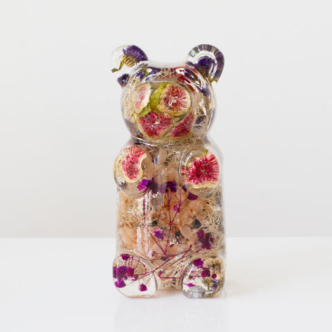 Pink & Purple Floral Bear