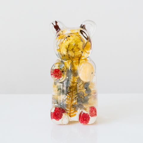 Yellow Floral Bear